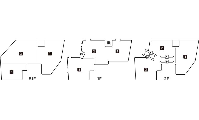Floor B1-2F